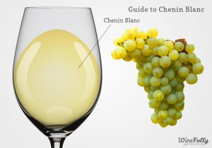Chenin-Blanc-Wine-in-Glass-with-grapes